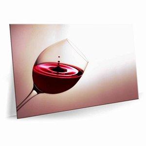 Quadro Taça de Vinho Tela Decorativa