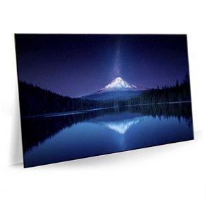 Quadro Montanha Monte Fuji Iluminada Tela Decorativa