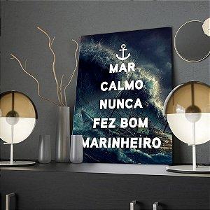 Placa Decorativa Marinheiro  (AL) 30X40CM