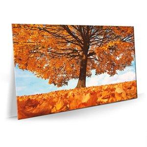Quadro Arvore Outono Tela Decorativa