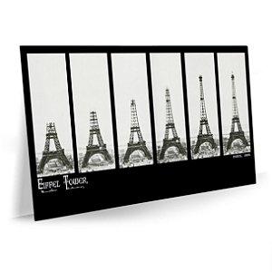 Quadro Torre Eiffel Construção Tela Decorativa