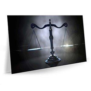 Quadro Advocacia Balança Justiça Escritório pb Tela Decorativa