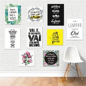 Kit 01 - Placas Decorativas