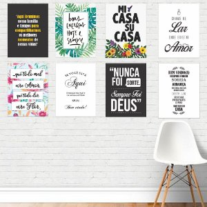Kit 06 - Placas Decorativas