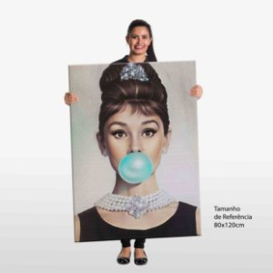 Quadro Audrey Tiffany Blue Tela Decorativa