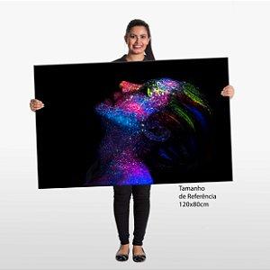 Quadro Beleza Mulher Colorida Tela Decorativa