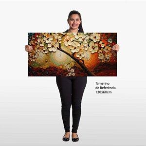 Quadro Folha 3D Abstrato Tela Decorativa