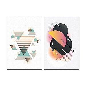 Dupla de Telas Decorativa Geométricas