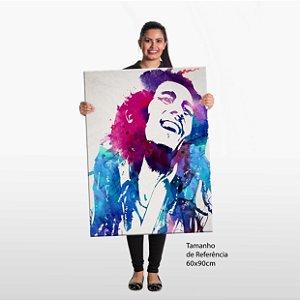 Quadro Bob Marley Aquarela