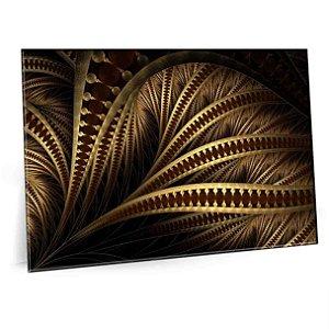 Quadro Formas Dourada Tela Decorativa