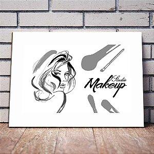 Placa Decorativa Studio Maquiagem (AL) 40x30CM