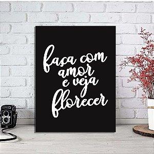 Placa Decorativa Veja Florecer (AL) 30X40CM