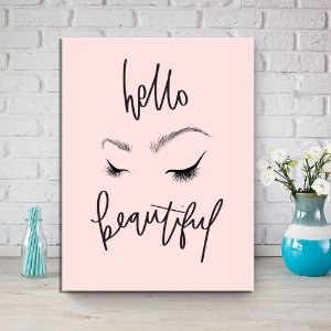 Placa Decorativa Hello Beautiful (AL) 30X40CM