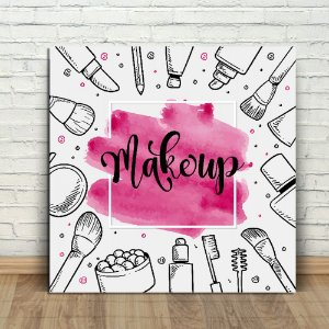Placa Decorativa Makeup (AL) 30X30CM