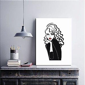 Placa Decorativa Moda Fashion 1 (AL) 30X40CM