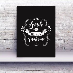 Placa Decorativa Smile Makeup (AL) 30x40CM