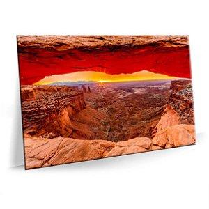 Quadro Montanhas Por do Sol Tela Decorativa