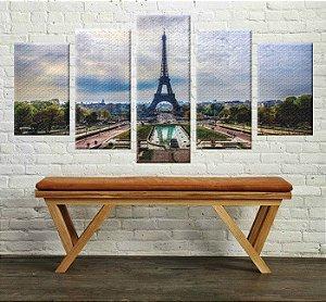 Quadro Torre Eiffel Conjunto 5 Peças