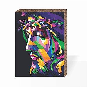 Quadro Jesus 3D [Box em MDF]
