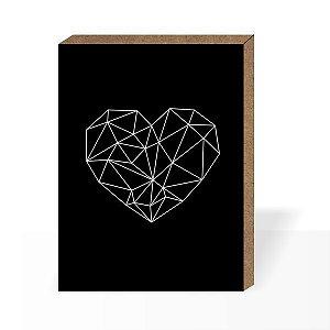 Quadro Coração 3D [Box em MDF]
