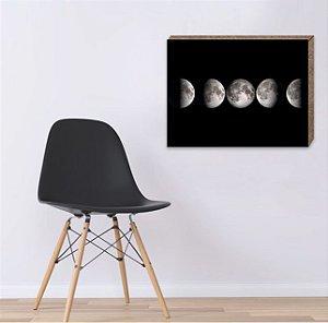 Quadro faces da Lua [Box em MDF]