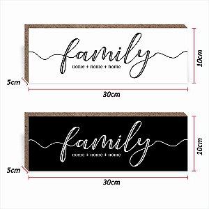 CAIXINHA BOX PERSONALIZADO FAMILY