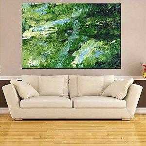 Quadro Tela Decorativa Abstrato Traços Verdes