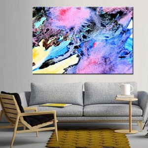 Quadro Canvas Vitral Abstrato