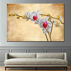 Quadro Canvas Pintura Orquidea