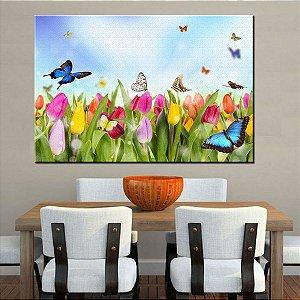 Quadro Canvas Campo de Flores