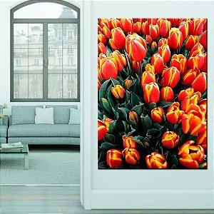 Quadro Tela Decorativa Flores Vermelhas