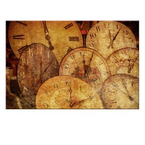 Quadro Tela Decorativa Relógios Antigos