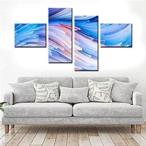 Quadro Banner Mosaico Abstrato Cores 150x80cm