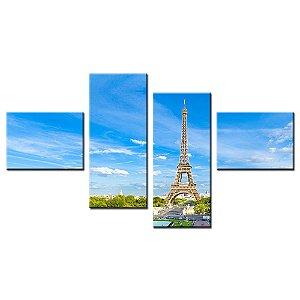 Quadro Decorativo Torre Eiffel 150x80cm