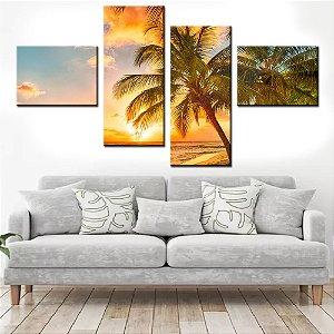 Quadro Banner Mosaico Tropical 150x80cm