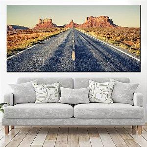 Quadro Panorâmico Banner Estrada do Texas 100x50cm