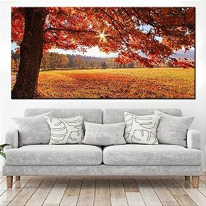 Quadro Panorâmico Banner Paisagem de Outono 100x50cm