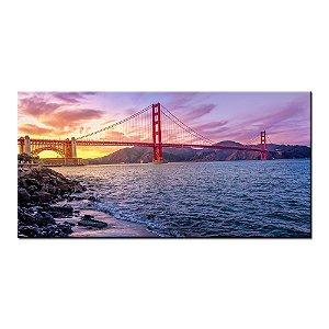 Quadro Panorâmico Ponte Golden Gatel 100x50cm