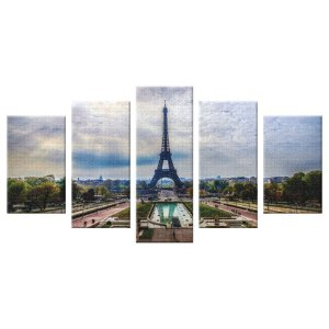 Conjunto 5 Telas Decorativas Torre Eiffel
