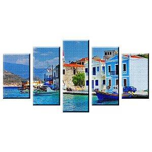 Conjunto 5 Telas Decorativas Mediteraneo