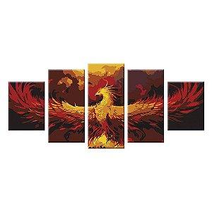Conjunto 5 Telas Decorativas Phoenix