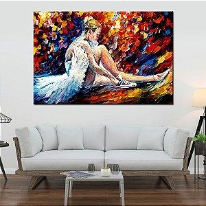 Quadro Tela Decorativa Pintura Bailarina
