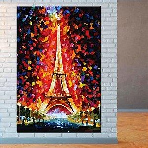 Quadro Tela Decorativa Torre Eiffel Lovel