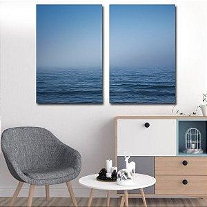 Dupla de Telas Decorativa Visão do Oceano