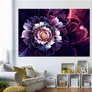 Quadro Tela Decorativa Vitral Flores