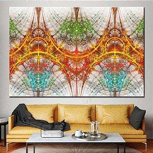 Quadro Tela Decorativa Abstrato Fractal 3D
