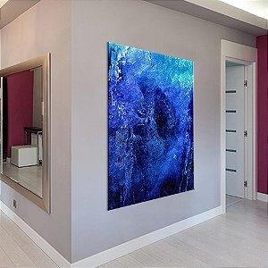 Quadro Tela Decorativa Abstrato Azul