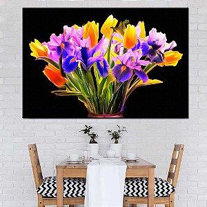 Quadro Tela Decorativa Flores Vibrantes