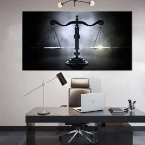 Quadro Tela Decorativa Balança da Justiça Advogado Advocacia