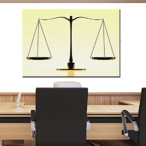 Quadro Tela Decorativa Balança Justiça Advogado Advocacia